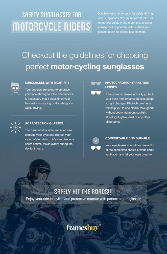 Safety-Sunglasses for Motorcycle Riders