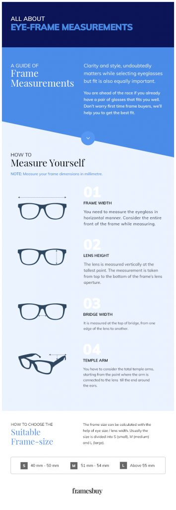 all about eye frame measurment