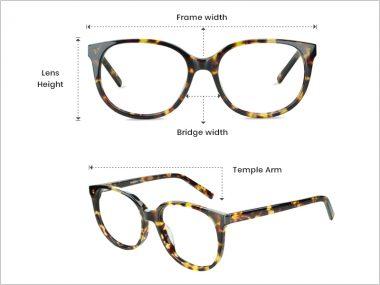 Eyeglasses Frame Measurement