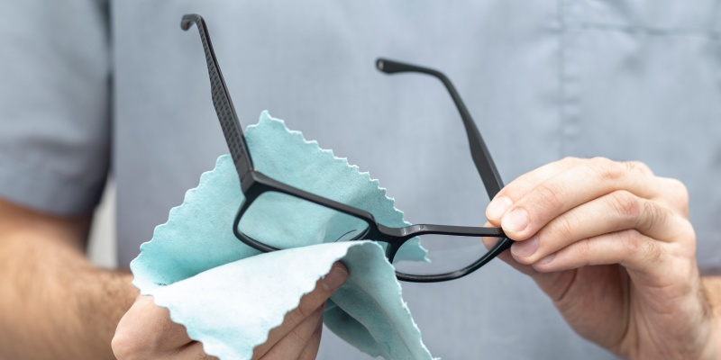 Wash your glasses with soap and water