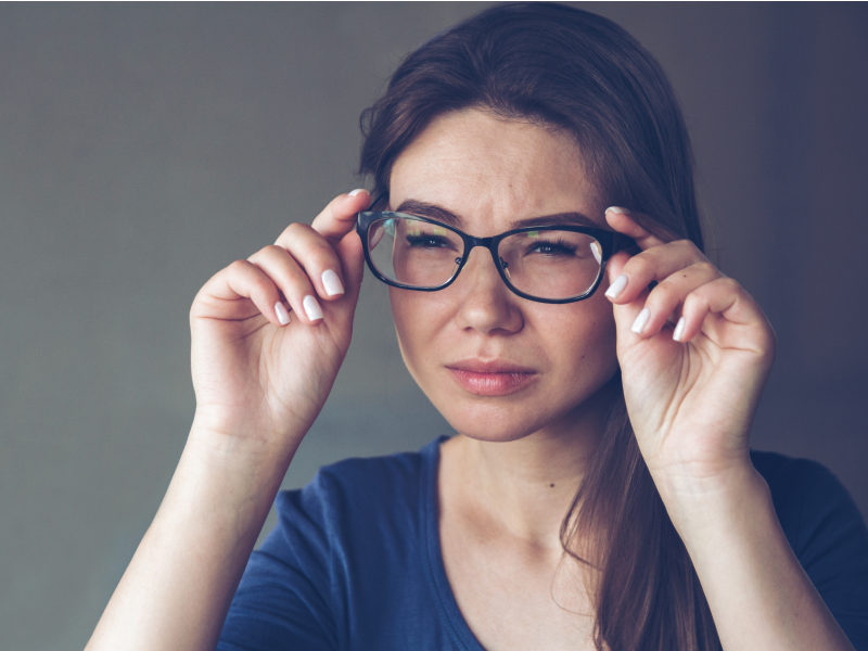 Glasses nose pads leave marks