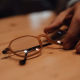 Pop out lenses from glasses